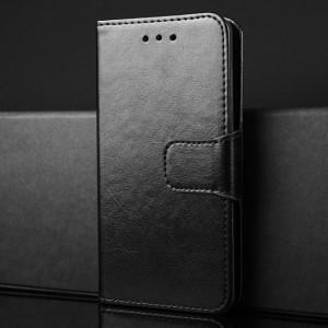 Чехол портмоне подставка на силиконовой основе с отсеком для карт на магнитной защелке для Xiaomi RedMi 4 Черный