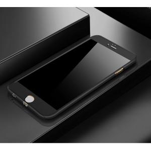 Двухкомпонентный сборный пластиковый матовый чехол для Iphone 6 Plus/6s Plus Черный