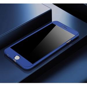 Двухкомпонентный сборный пластиковый матовый чехол для Iphone 6 Plus/6s Plus Синий
