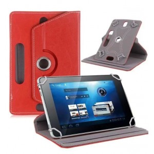 Чехол подставка роторный для планшета диагональю 10 дюймов Красный