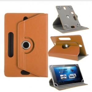 Чехол подставка роторный для планшета диагональю 8 дюймов Оранжевый
