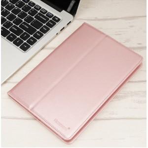 Чехол флип на клеевой основе с отсеком для карт и внутренним карманом для планшета 10 дюймов Розовый