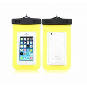 Водонепроницаемый мешок для смартфона с ремешком и цветной рамой Желтый