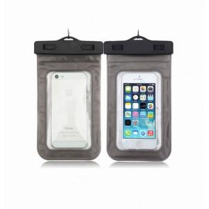 Водонепроницаемый мешок для смартфона с ремешком и цветной рамой Черный