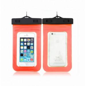 Водонепроницаемый мешок для смартфона с ремешком и цветной рамой Оранжевый