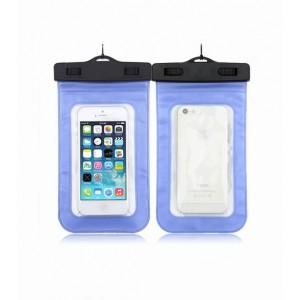 Водонепроницаемый мешок для смартфона с ремешком и цветной рамой Синий