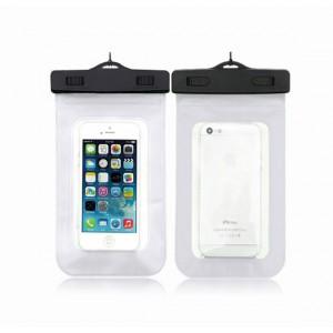 Водонепроницаемый мешок для смартфона с ремешком и цветной рамой Белый