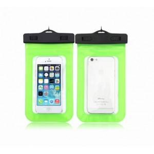 Водонепроницаемый мешок для смартфона с ремешком и цветной рамой Зеленый