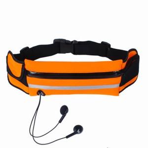 Спортивный чехол - сумка на пояс с отвестием под наушники Оранжевый