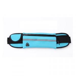Спортивный чехол - сумка на пояс с отвестием под наушники Голубой