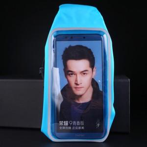 Спортивный чехол для телефона на пояс с 2мя карманами и отверстием для наушников Голубой