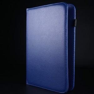 Чехол флип подставка роторный на зажимах для планшета 7 дюймов Синий