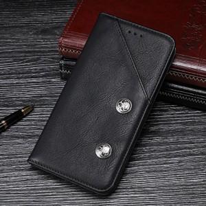 Чехол флип подставка на силиконовой основе с внешним и внутренним отсеком для карт для Samsung Galaxy A70  Черный
