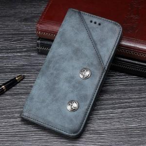 Чехол флип подставка на силиконовой основе с внешним и внутренним отсеком для карт для Samsung Galaxy A70  Синий