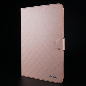 Чехол флип подставка на магнитной защелке с отсеком для карт для планшета 10 дюймов Бежевый