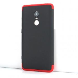 Сборный двухцветный пластиковый матовый чехол для Xiaomi RedMi Note 4X Красный