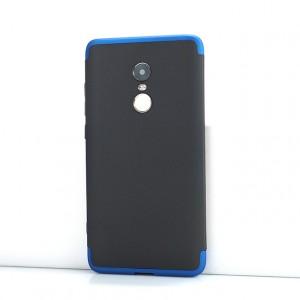 Сборный двухцветный пластиковый матовый чехол для Xiaomi RedMi Note 4X Синий