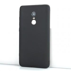 Сборный двухцветный пластиковый матовый чехол для Xiaomi RedMi Note 4X Черный