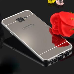 Двухкомпонентный чехол с металлическим бампером и поликарбонатной крышкой с зеркальным покрытием для Samsung Galaxy A7 (2016) Белый