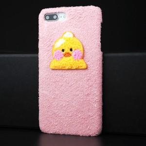 Пластиковый непрозрачный матовый чехол с аппликацией ручной работы для Iphone 7/8 Plus Розовый