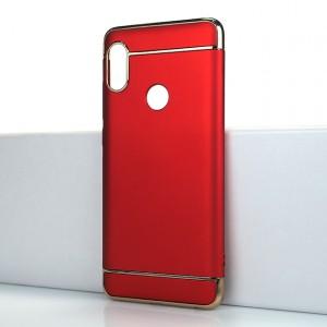 Двухкомпонентный сборный пластиковый матовый чехол для Xiaomi RedMi Note 5/5 Pro Красный