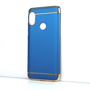 Двухкомпонентный сборный пластиковый матовый чехол для Xiaomi RedMi Note 5/5 Pro Синий