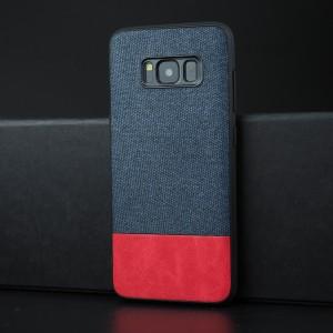 Силиконовый матовый непрозрачный чехол с текстурным покрытием Ткань для Samsung Galaxy S8 Пурпурный