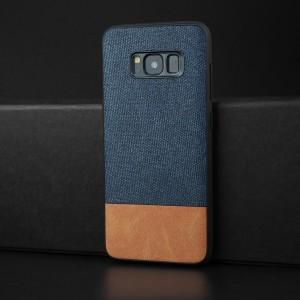 Силиконовый матовый непрозрачный чехол с текстурным покрытием Ткань для Samsung Galaxy S8 Бежевый