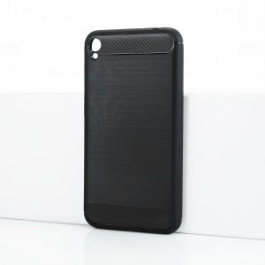 Силиконовый матовый непрозрачный чехол с текстурным покрытием Металлик для Asus ZenFone Live Черный