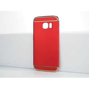 Двухкомпонентный сборный пластиковый матовый чехол для Samsung Galaxy S6 Edge