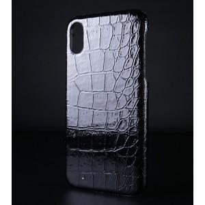 Пластиковый непрозрачный матовый чехол с текстурным покрытием Крокодил для Iphone Xr Черный