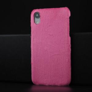 Чехол накладка с текстурным покрытием Ткань для Iphone Xr Пурпурный