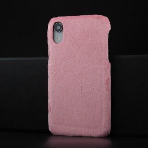 Чехол накладка с текстурным покрытием Ткань для Iphone Xr Розовый