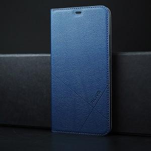 Чехол горизонтальная книжка подставка текстура Линии на пластиковой основе для Iphone SE Синий