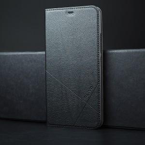 Чехол горизонтальная книжка подставка текстура Линии на пластиковой основе для Iphone SE Черный