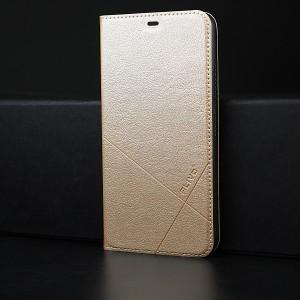 Чехол горизонтальная книжка подставка текстура Линии на пластиковой основе для Iphone SE Бежевый