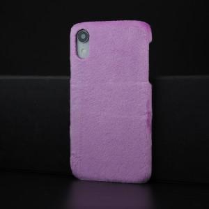 Чехол накладка с текстурным покрытием Ткань для Iphone Xr Фиолетовый