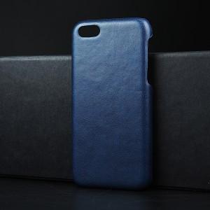 Пластиковый непрозрачный матовый чехол с текстурным покрытием Кожа для Iphone 5c Синий