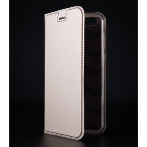 Чехол флип подставка на силиконовой основе с отсеком для карт для ASUS ZenFone 4 ZE554KL Бежевый