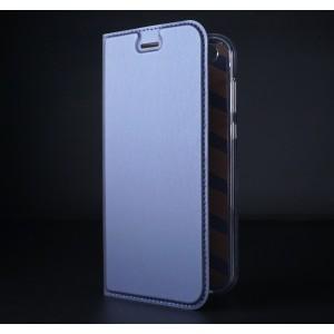 Чехол флип подставка на силиконовой основе с отсеком для карт для ASUS ZenFone 4 ZE554KL Синий