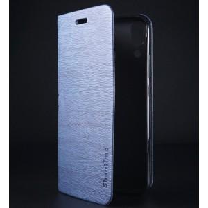 Чехол флип подставка текстура Дерево на силиконовой основе с отсеком для карт для ASUS ZenFone 5 ZE620KL Синий