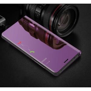 Пластиковый непрозрачный матовый чехол с полупрозрачной крышкой с зеркальным покрытием для Huawei Honor 8X Пурпурный