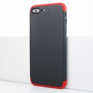 Двухкомпонентный сборный пластиковый матовый чехол для Iphone 7 Plus Красный