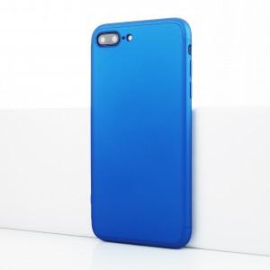 Двухкомпонентный сборный пластиковый матовый чехол для Iphone 7 Plus Синий