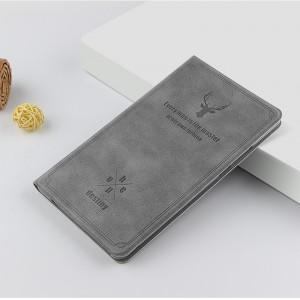 Чехол книжка подставка текстура Олень на непрозрачной поликарбонатной основе для Huawei MediaPad T5 Серый