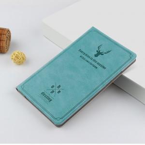 Чехол книжка подставка текстура Олень на непрозрачной поликарбонатной основе для Huawei MediaPad T5 Синий