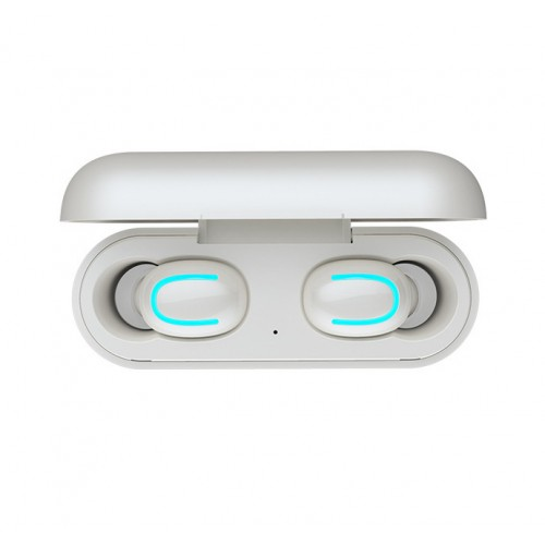 Беспроводные наушники True Wireless Bluetooth 5.0 с влагозащитой (IPX5), LED-индикаторами и магнитным зарядным кейсом (1500 мАч) с реверсивной зарядкой