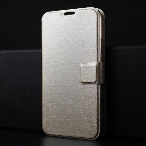 Чехол горизонтальная книжка подставка текстура Золото на пластиковой основе с отсеком для карт на магнитной защелке для Samsung Galaxy S5 (Duos)