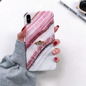 Силиконовый глянцевый непрозрачный чехол с принтом и встроенным кольцом-подставкой со стразами для Iphone 7/8