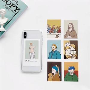 Силиконовый глянцевый транспарентный чехол с Арт-вкладышами для Iphone 7/8